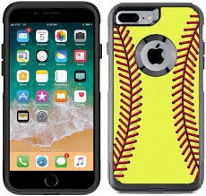 Amazon Com Teleskins Protective Designer Vinyl Skin Decals Compatible With Otterbox Commuter Iphone 7 Plus Iphone 8 Plus Case Softball Design Pattern Only Skins And Not Case