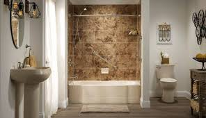 fiberglass one piece tub shower units