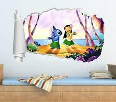 Lilo And Stitch 3d Torn Hole Ripped Wall Sticker Decal Decor Art Disney Wt126 Ebay