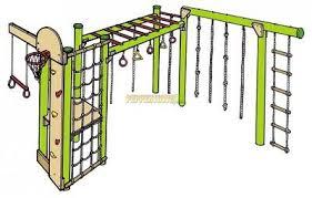 diy playground kit climbing ropes