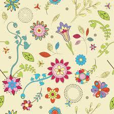 cute flowers wallpaper pattern vector