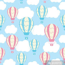 baby shower seamless pattern with cute