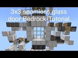 seamless glass door for mcbe tutorial