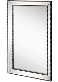 large framed wall mirror with angled