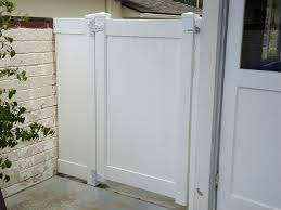 White Vinyl Gate Privacy Gate Gates And Fencing Pacific Sunscapes San Diego Ca Vinyl Gates Side Gates Fence