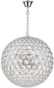 light crystal globe pendant chrome