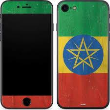 Ethiopia Flag Distressed Iphone 7 Skin