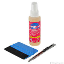 Vinyl Decal Installation Kit With Application Fluid Squeegee Knife