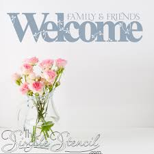 Welcome Family Friends Wall Decal Sticker Family Wall Decals Wall Decal Sticker Vinyl Wall Decal Quote