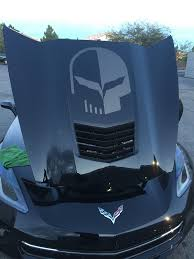 C7 Corvette Stingray Z06 Grand Sport 2014 Jake Skull Hood Decal Modern Gen Auto