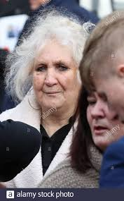 Phoebe Smith, the grandmother of Joey and Billy Smith, leaves the St John  the Baptist Church, Sevenoaks, following the funeral service for My Big Fat  Gypsy Wedding's Billy and Joey Smith Stock