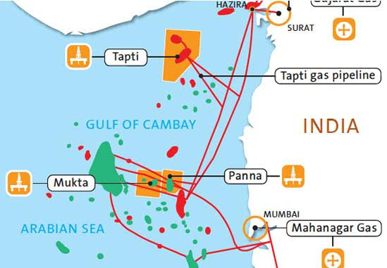 After 25 years of operations, Shell, Reliance and ONGC JV transfer the Panna-Mukta fields back to ONGC