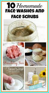 homemade face wash and face scrub recipes