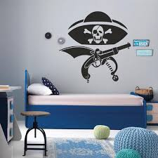 I Love Pirates Wall Decal Pirates Wall Decal Kids Room Etsy