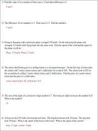 linear equation word problem worksheet