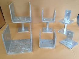 Timber Fence Post Shoes Heavy Duty Galvanised Type 2 To Suit 100mm Square Posts 39 00 Picclick Uk