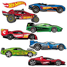 Amazon Com Hot Wheels Large Cars Busting In Wall Decal Set Home Kitchen