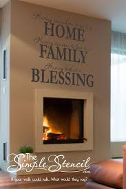 Family Home Blessings Iii In 2020 Wall Sticker Design Wall Quotes Decals Family Room Walls