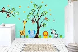 Baby Room Jungle Wall Stickers Safari Animal Wall Stickers Decor Nurserydecals4you