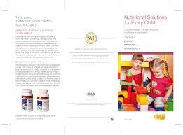 children nutritional brochure