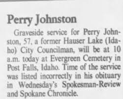 Obituary for Perry Johnston (Aged 57) - Newspapers.com