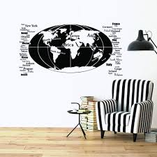 Shop Style And Apply Oval World Map Vinyl Wall Decal Overstock 11916692