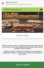 subway offers deals