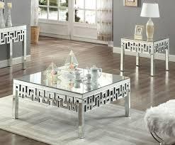 meridian furniture aria mirrored 3pc