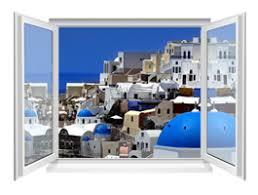 Fresco Greek Village Faux Window Murals Dezign With A Z