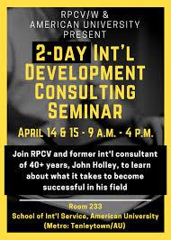 2-Day International Development Consulting Seminar - RPCV/W