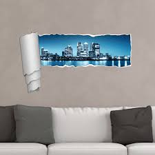 New York Skyline Panoramic Peel And Stick Wall Decal