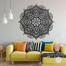 Prajna Mandala Stencil Stencil Wall Art Mandala Wall Art Stencils Wall
