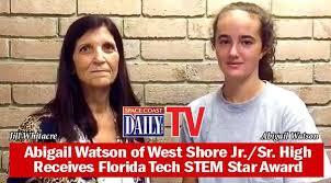 WATCH: Abigail Watson of West Shore Jr./Sr. High Receives Florida Tech STEM  Star Award