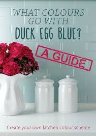 what colours go with duck egg blue