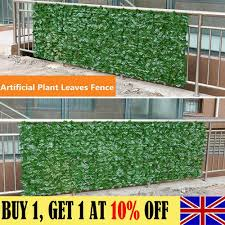 Faux Artificial Hedge Slats Panel Plastic Fence Privacy Screening 1 5mx3m For Sale Ebay