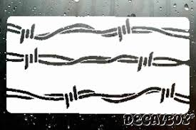 Barbed Wire Decals Stickers Decalboy