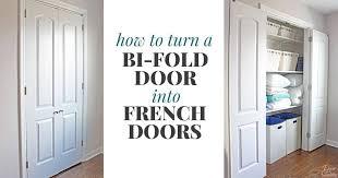 bi fold door into french doors