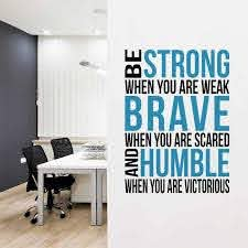 Be Strong Brave Humble Quote Wall Decal Bedroom Wall Stickers