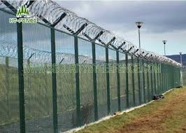 Custom Metal Security Fence Panels Wire Mesh Security Fencing Ce Approved