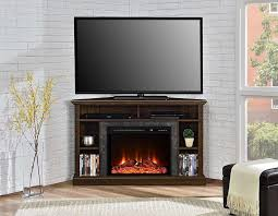 corner electric fireplace tv stand and