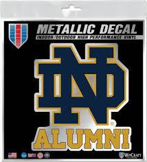 University Of Notre Dame Alumni 6x6 In Decal University Of Notre Dame