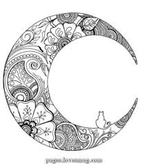 Atemberaubende 52 Enorme Konzepte Tattoo Moon Mandala Coloring