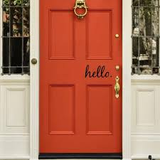 Hello Welcome Vinyl Door Decal Sticker Wall Family Kids Welcome Home Lettering Quote Kitchen Welcoming Greetings Sticker Art Sticker Wall Welcome Stickerwelcome Home Aliexpress