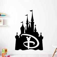 Disney Mickey Mouse Castle Vinyl Wall Sticker Boys Room Decor Mickey Head Design Vinyl Decals Fairytale Castle Wall Poster Wall Stickers Aliexpress