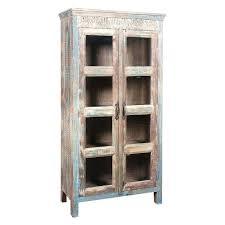 tall rustic cabinet glass doors medium