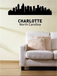 Charlotte North Caroline City Skyline Vinyl Wall Art Decal Sticker