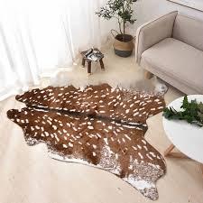 faux cow hide rug sika deer skin rug
