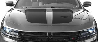 Dodge Charger Main Hood Decal Vinyl Decal Graphic Striping Kit Fits Years 2015 2016 2017 2018 2019 2020 2021