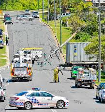 Mum Grabs Toddler As Truck Trailer Crashes Through Fence Observer