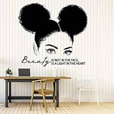 Amazon Com 22 X 23 Afro Wall Art Decals Decor Afro American African Girl Hair Black Women Salon Stickers Afro Decorations Pictures Posters Motivational Inspirational Quotes 314 Home Kitchen